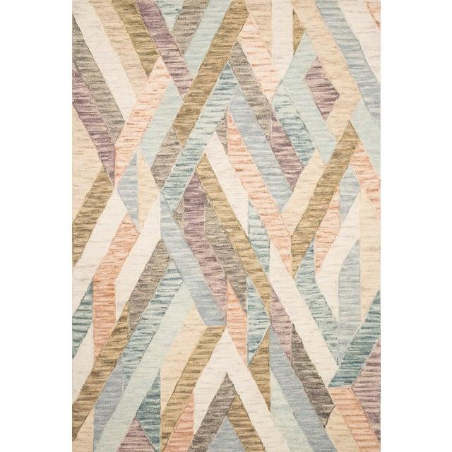 "Contemporary Justina Blakeney X Loloi Rugs Hallu Rug, Sunrise / Mist - 3'6""x5'6"" For Sale - Image 3 of 3"