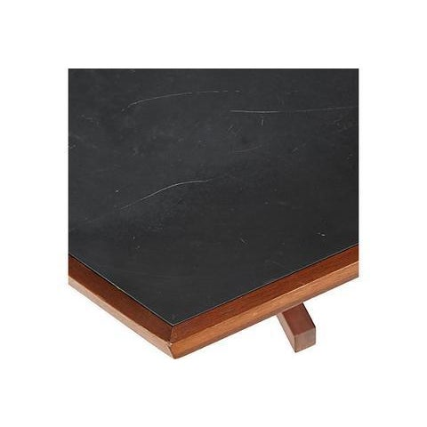 Brown 1960s Slate & Walnut Six Sided Table For Sale - Image 8 of 9