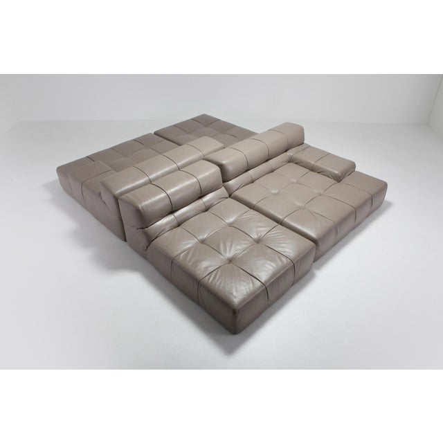Patricia Urquiola Tufty Time B&b Italia Taupe Leather Sectional Sofa by Patricia Urquiola For Sale - Image 4 of 11