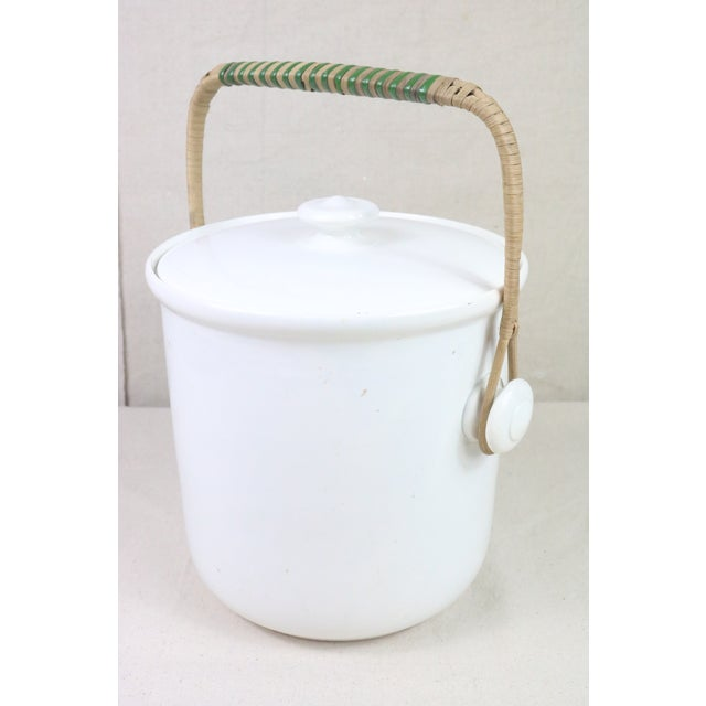Late 19th Century Late 19th Century French Ironstone Covered Bucket For Sale - Image 5 of 9