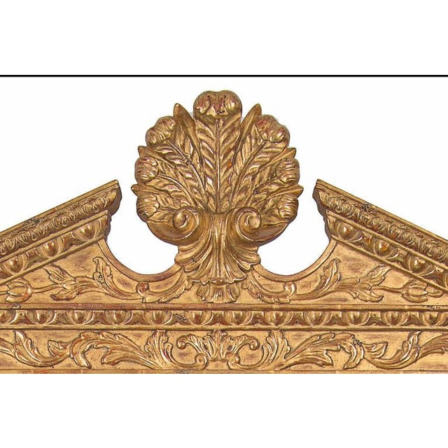 Late 20th Century Georgian Style Hand-Carved and Gilt Mirror For Sale - Image 4 of 6
