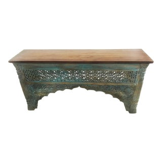 Raja Carved Wood Console