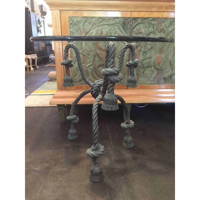 Important Detailed Bronze Tasseled Rope Table or Gueridon - Image 6 of 9