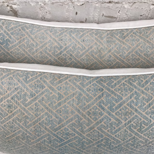 Faded Hmong Woven Pillows - a Pair - Image 4 of 5