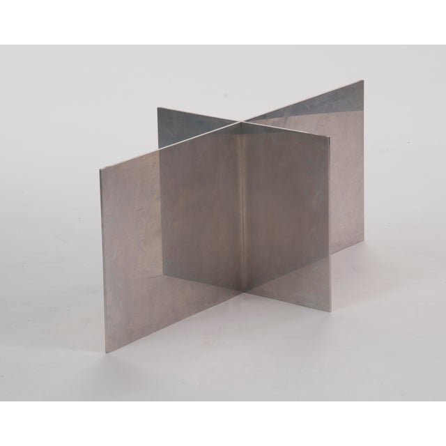 Contemporary Paul Mayen Habitat Aluminum Coffee Table For Sale - Image 3 of 12