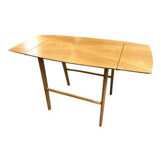 Danish Teak Mid-Century Modern Fold-Out Table