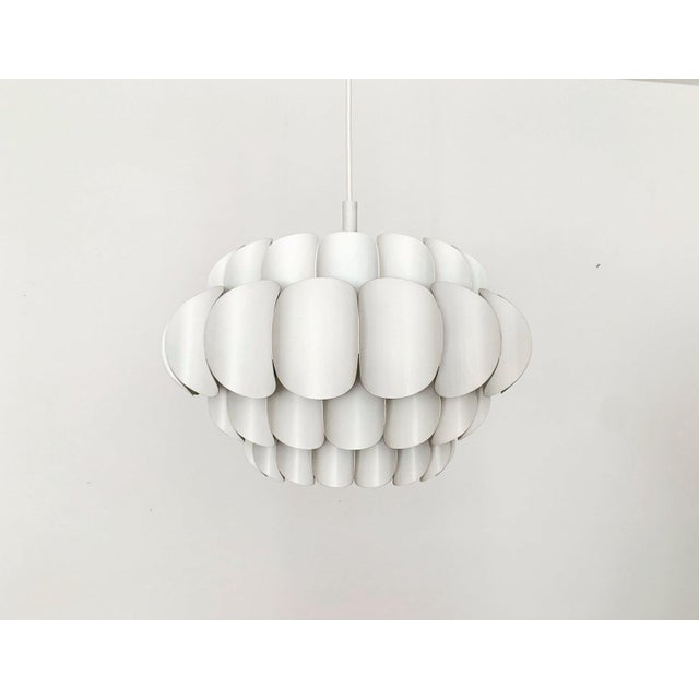 White 1960s Mid-Century Modern Metal Pendant Lamp by Orrling for Temde For Sale - Image 8 of 8