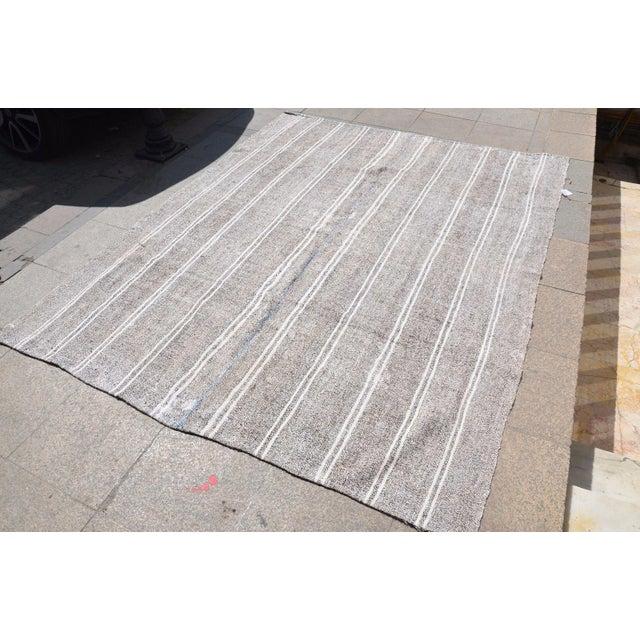 Turkish Stripe Kilim Rug - 6′5″ × 8′2″ For Sale - Image 5 of 6