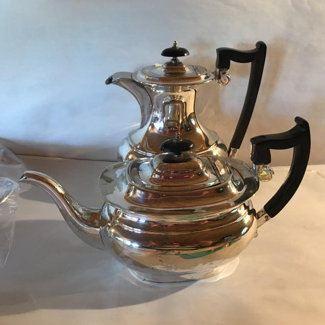 Sheffield 2 Pieces - English Sheffield Silver Coffeepot and Teapot For Sale - Image 4 of 7