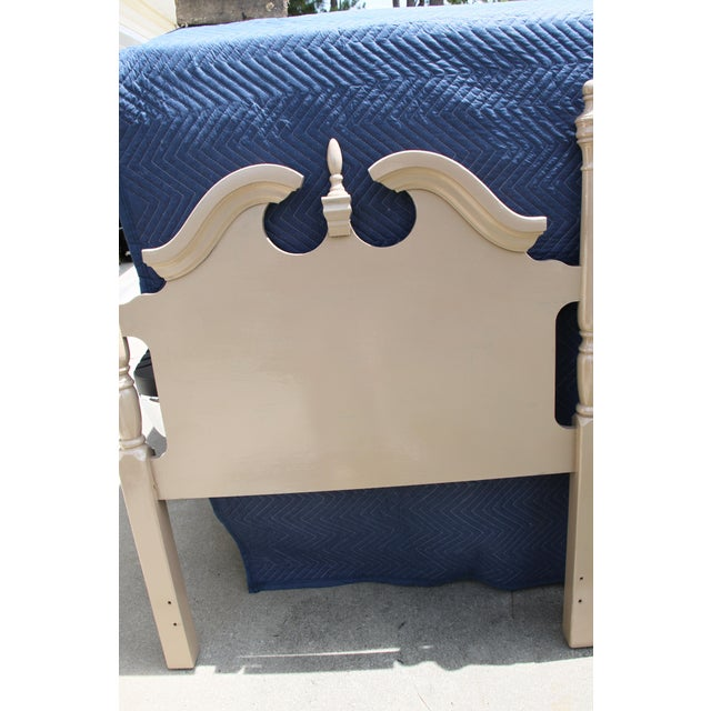 Tan Hollywood Regency Georgian Camel / Putty Gloss Twin Headboards - a Pair For Sale - Image 8 of 10