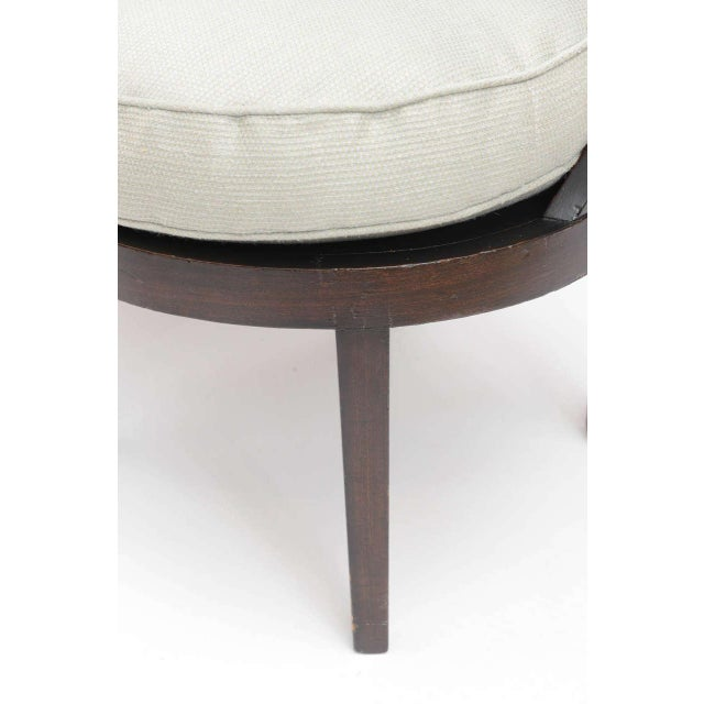 Mid-Century Modern Distinctive Mahogany Cane Back Chair For Sale - Image 3 of 10