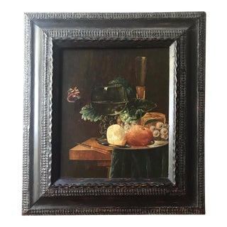 19th Century Still Life Painting After Pieter Claesz, Framed For Sale