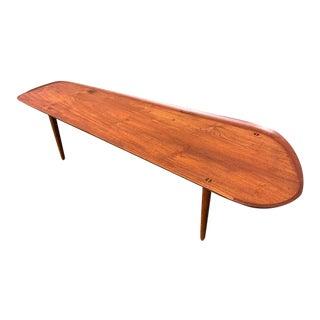 Hovmand-Olsen for Jutex Teak Coffee Table, Denmark, 1950s For Sale