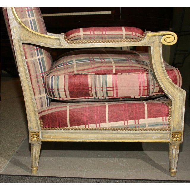 Fabulous French Bergere Chair by Jansen For Sale - Image 4 of 9