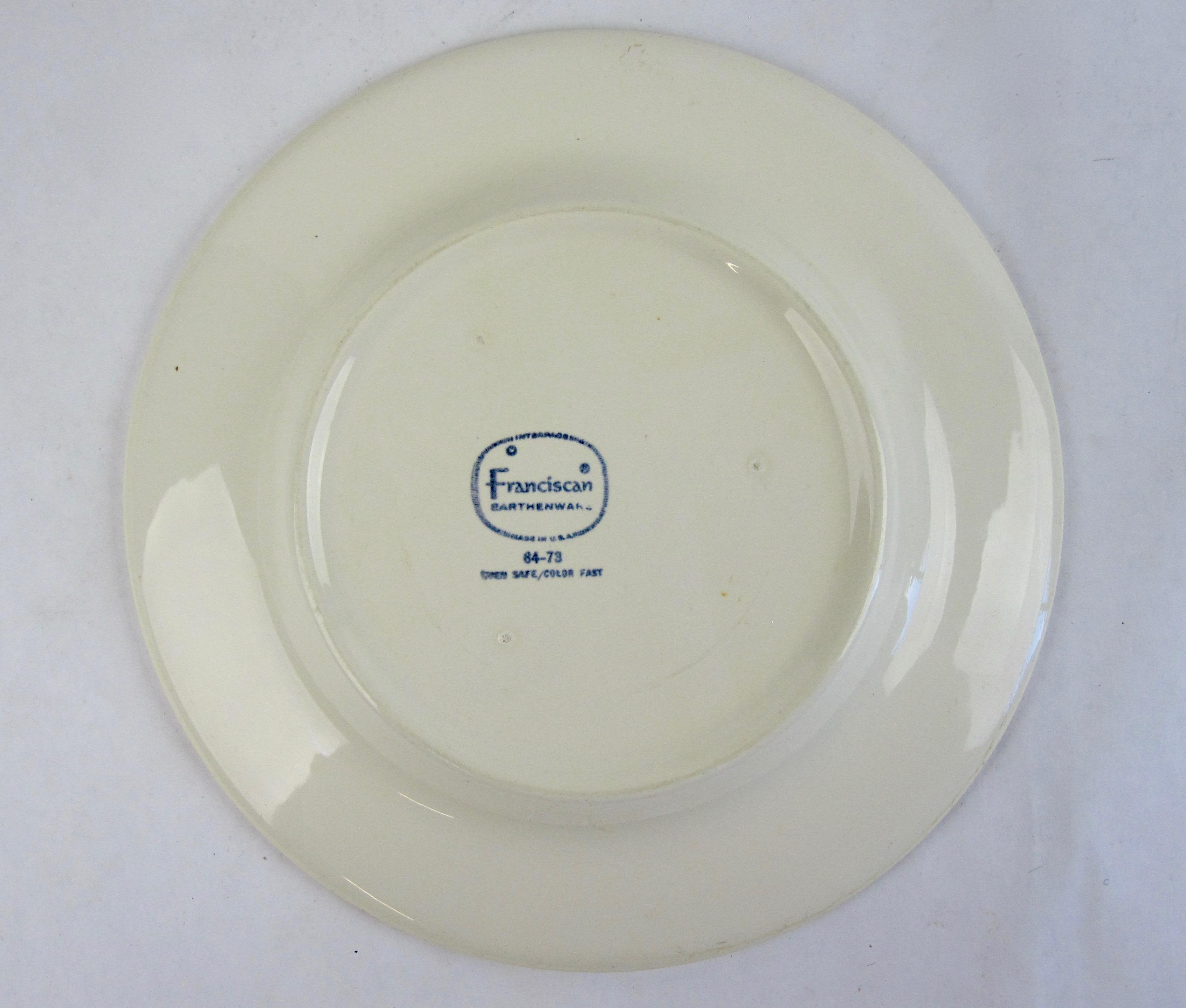 Franciscan Earthenware Salad Dishes - Set of 7 - Image 5 of 6  sc 1 st  Chairish : franciscan dinnerware - pezcame.com