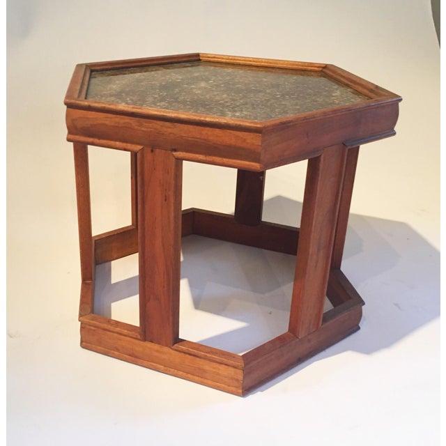Mid-Century Hexagonal Side Table - Image 4 of 7