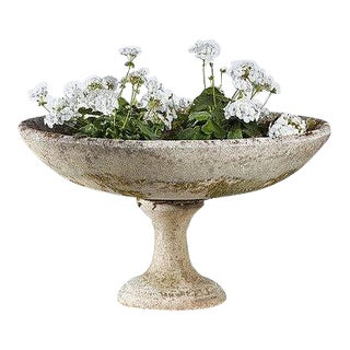 Composition Stone Bird Bath, French Circa 1930's For Sale