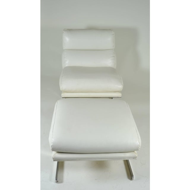 Modern Lounge Chair and Ottoman by Kipp Stewart for Directional, circa 1970 - Image 5 of 10