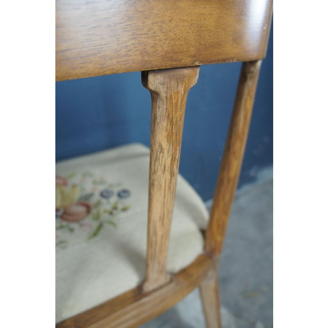 Tomlinson Mid Century Modern Tomlinson Walnut Dining Chairs- A Pair For Sale - Image 4 of 11