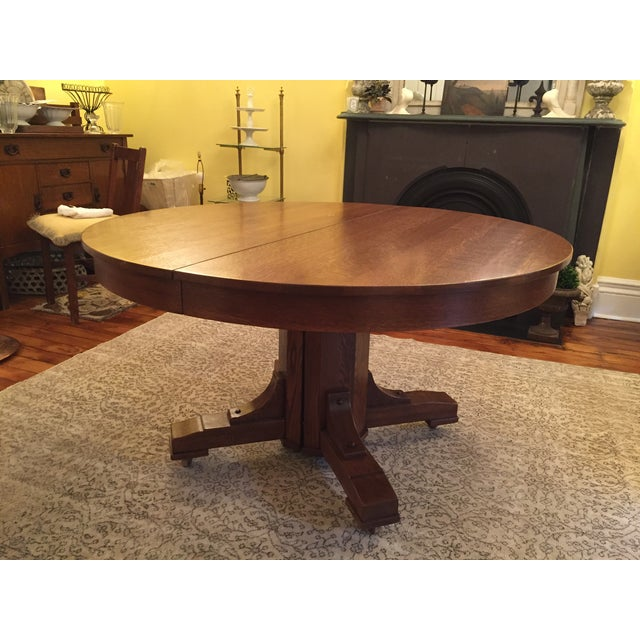 Antique Arts and Crafts Period Dining Table - Image 3 of 4