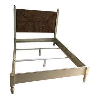 Aged Wicker Queensize Bedframe For Sale