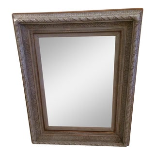 Gustavian Grey Carved Wood Mirror For Sale