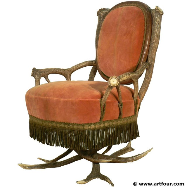 Antler Easy Chair Austria Ca. 1880 For Sale - Image 6 of 6