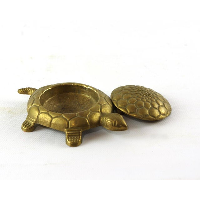 Vintage Brass Turtle Trinket Box For Sale - Image 5 of 6