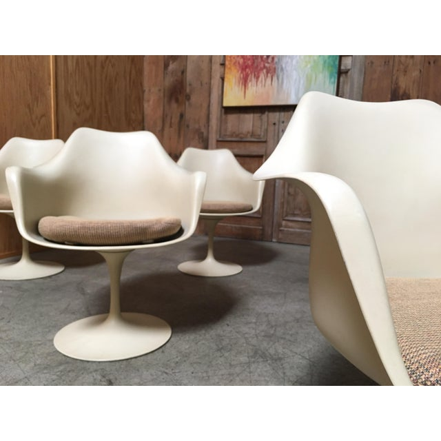 Metal Vintage Mid Century Eero Saarinen for Knoll Dining Chairs- Set of 6 For Sale - Image 7 of 12