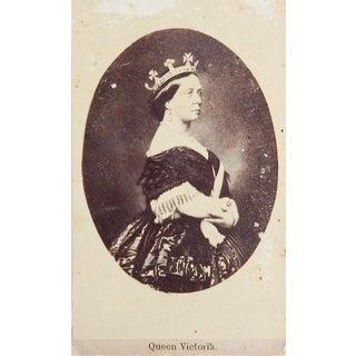 1861 Portrait Queen Victoria Charles Clifford CDV Photograph For Sale