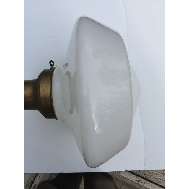 Vintage Brass Flushmount Ceiling Fixture For Sale In New York - Image 6 of 10