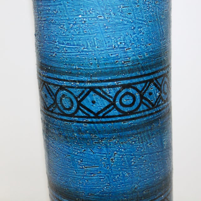 Bitossi for Raymor Blue Pottery Lamp - Image 3 of 9