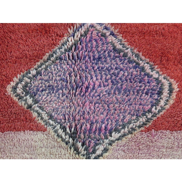 1960s Vintage Moroccan Boujad Rug For Sale - Image 5 of 11