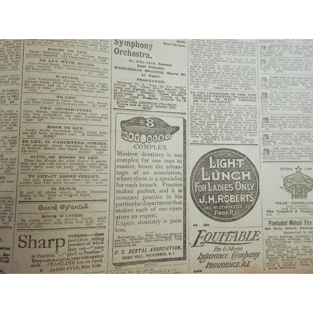 1895 Providence R.I. Bound Newspapers For Sale - Image 10 of 11