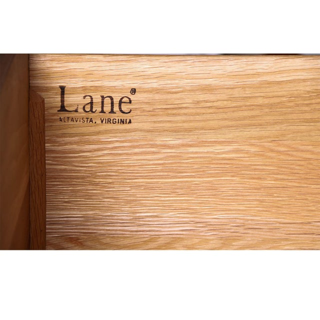 Mid Century Lane Furniture Five Drawer Tall Highboy Dresser For Sale - Image 9 of 11