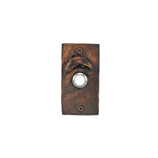 Rectangle Fish Doorbell with Traditional Patina For Sale