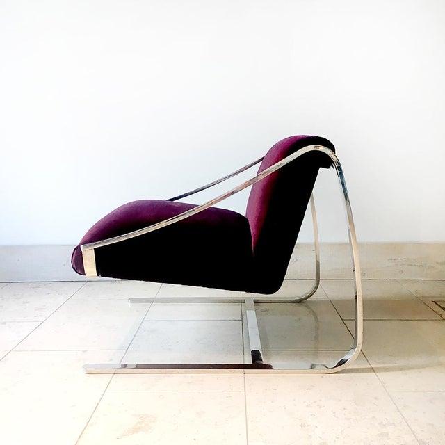 1970s Single Original Plaza Velvet Upholstered Lounge Chair by Brueton 1970s For Sale - Image 5 of 7