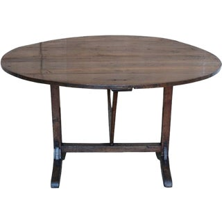 French Elm Wood Wine Tasting Table For Sale
