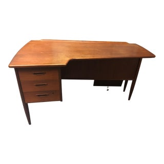 1950's Mid-Century Modern Boomerang Desk For Sale