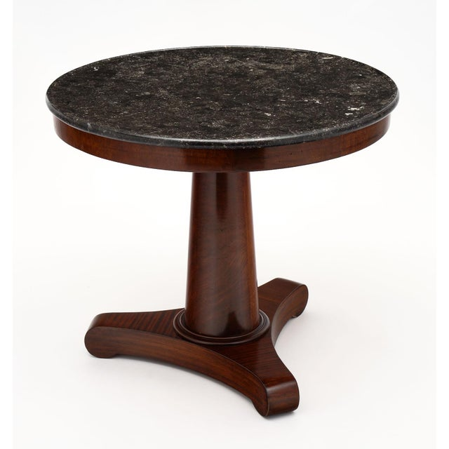 French Gray Marble Topped Empire Style Gueridon For Sale - Image 3 of 10