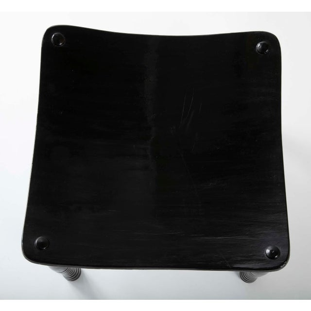 Ebony English 19th Century Egyptian Revival Ebony Thebes Stool For Sale - Image 8 of 9