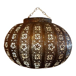 Turkish Moroccan Handmade Copper Finish Multicolor Glass Metal Lantern