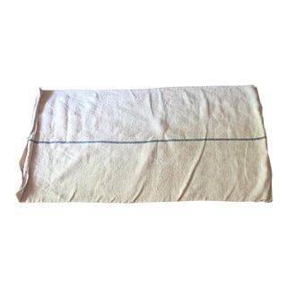 Blue Striped French Grain Sack For Sale