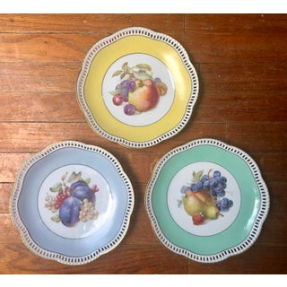 Traditional Pastel Reticulated Fruit Plates - Set of 3 Preview