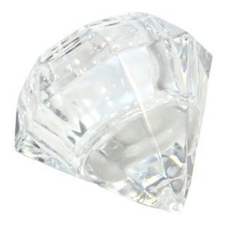 Vintage Crystal Diamond Paperweight