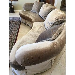 Modern Preview Furniture Mfg Serpentine 2 Piece Sofa Preview