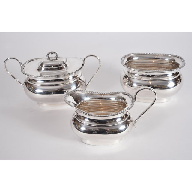 Sheffield Vintage English Sheffield Sterling Silver Tea / Coffee Service - 5 Pc. Set For Sale - Image 4 of 13
