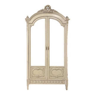 19th Century French Louis XVI Painted Armoire For Sale