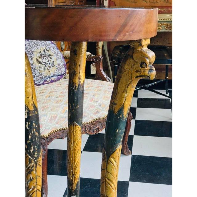 Traditional 19th Century Traditional Painted Parcel Gilt Gueridon For Sale - Image 3 of 8