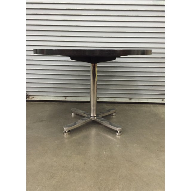 Contemporary Brueton Custom Stainless Steel & Granite Table For Sale - Image 3 of 6